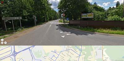 сходка Вишняковского и Разинского шоссе, дорожный знак ст. НИКОЛЬСКОЕ