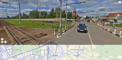 Автомобильный переезд у Салтыковки по Разинскому шоссе.