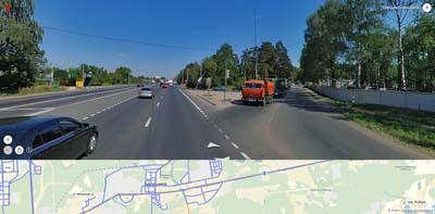 Позади ВНИИПО, спереди- Владимирская ул. и Новский мкр.