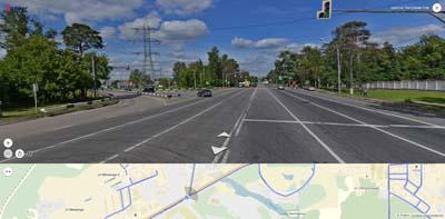 Впадение Объездного шоссе в Энтузиастов, рядом река Чернавка, мкр. ЦОВБ, и с/т Металлург