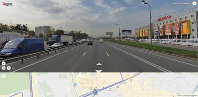 Въезд в Москву, дальше МКАД, справа торговые центры: ТУТ, Мебель Строй Plaza, Бахетле, Идея. После путепровода- МойДом