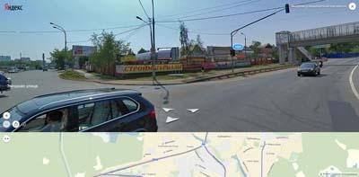 перекрёсток: Звёздная улица - Щелковское шоссе. Рынок стройматериалов, Надземный переход из Лукино к Покровскому проезду