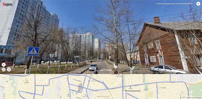 На Маяковского соседствуют многоэтажные постройки и деревянные двухэтажные дома на улице Ляхова