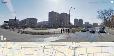 Вид на сквер у Пролетарской улицы