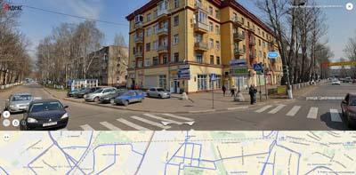 Перекрёсток улиц Фрунзе и Циолковского.