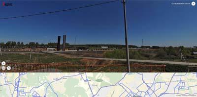вид с Осташковского шоссе на Военное мемориальное кладбище
