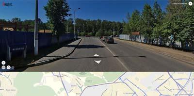 въезд ул. Колпакова, перекрёсток с Волковским шоссе