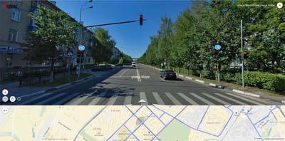 пересечение ул. Матросова и Мира, 18 и 9 мытищинский микрорайон