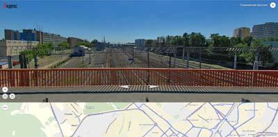 фотография ж/д путей с Олимпийского моста