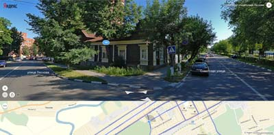 На пересечении Советской и Леснова- узорчатые деревянные дома