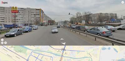 Перекресток у Макдональдса: Пролетарский пр-т, Талсинская, Заречная улицы.