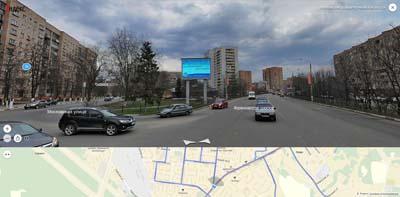 Съезд с Фряновского шоссе на Московскую улицу