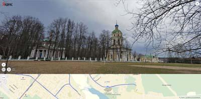Гребневские церкви, левее Усадьба Гребнёво