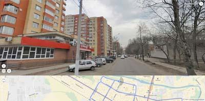 ул. Шмидта, далее Зубеева и Больница. Прямо- площадь Ленина.